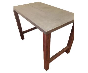 Crate & Barrel Galvin High Dining Table