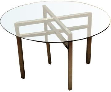 Straight from the Crate Circular Glass Dining Table