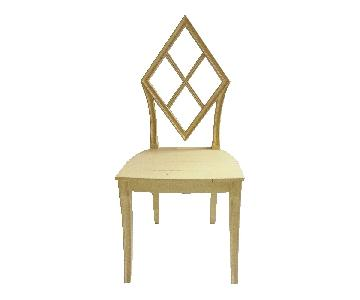Wooden Diamond Back Hall Chair