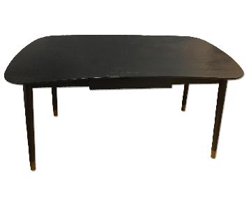 Crate & Barrel Black Fletcher Desk