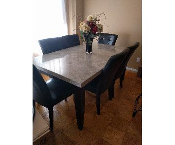 Dining Table w/ 6 Chairs + Buffet/Bar