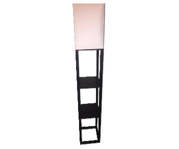 Dark Brown Floor Lamp w/ Shelves