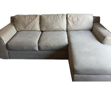 Macy's Grey Sectional Couch