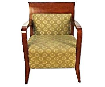 Modern Birch Walnut Lounge Club Chairs/Armchairs