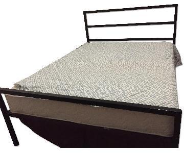 Metal Platform Queen Bed Frame w/ Headboard
