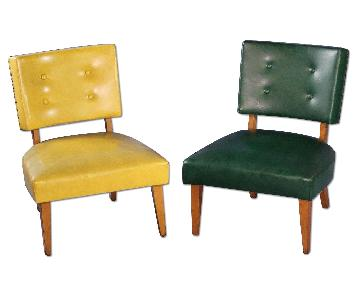 1950 Mid Century Maple Lounge Chairs