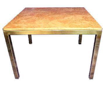 minimalist modern industrial office desk dining. minimalist modern industrial office desk dining milo baughman mid century burled wood brass square u