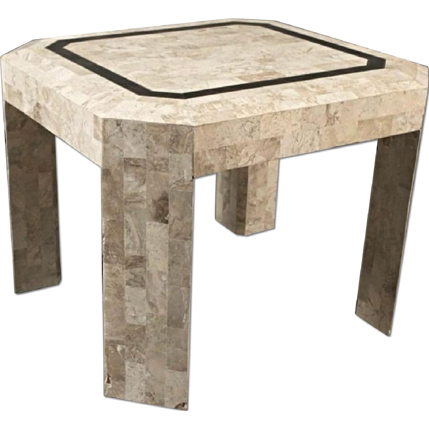 Maitland Smith Neoclassical Stone Clad Coffee Side/End Table