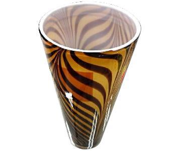 Italian 1950s Dino Martens Mid Century Modern Zebra Art Glas