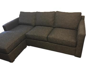 Crate & Barrel Davis Sectional Sofa