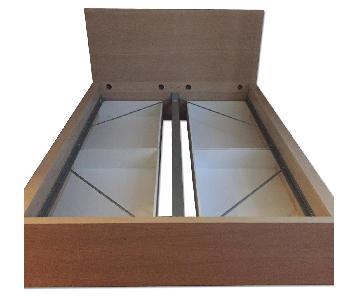 Ikea Malm Full Bed Frame w/ 4 Storage Drawers