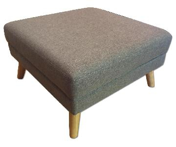 Wayfair Langley Street Grey/Tan Ottoman