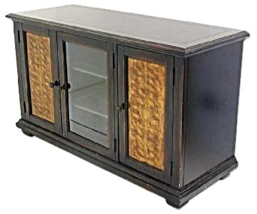 Large Black Lacquer Modern Sideboard