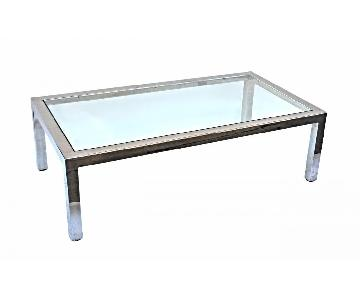 Pace 1960s-70s Mid Century Modern Chrome Coffee Table Base w