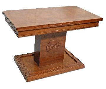 American Walnut Refractory Library Table