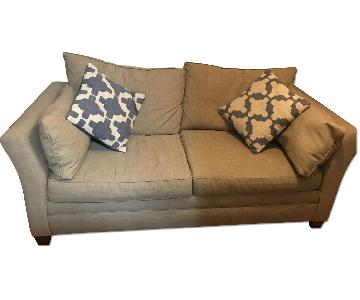 Jennifer Convertibles Full Sleeper Sofa & Storage Ottoman