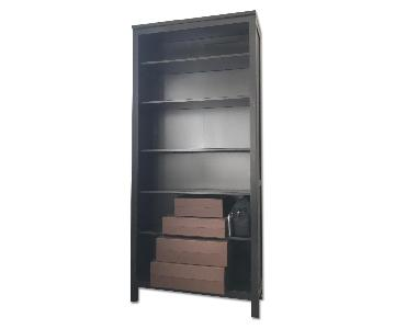Ikea Hemnes Dark Brown Wood Bookcase