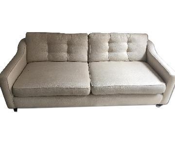 Custom Beige Fabric Sofa