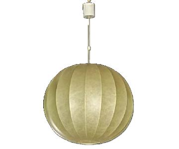 Italian Modern Stretched Parchment Bubble Hanging Light