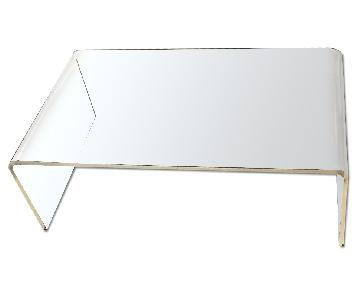 CB2 Lucite Coffee Table