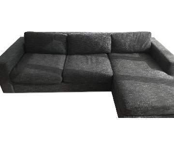 West Elm Charcoal Urban Left Arm Sectional Sofa w/ Right Arm Chaise