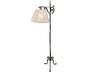 Black Wrought Iron Adjustable Floor Lamp