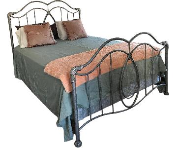 Macy's Gray Metal Queen Bed Frame