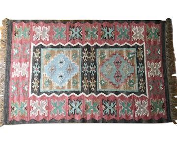 Vintage Bohemian Wool Rug