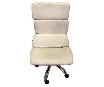 ABC Carpet and Home White Leather Desk Chair