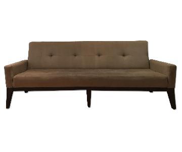 West Elm Marled Microfiber Sofa in Mink