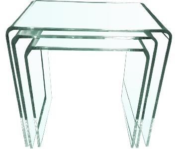 CB2 3-Piece Peekaboo Acrylic Nesting Tables