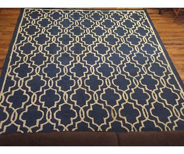 Safavieh Cambridge Blue & Ivory Wool Rug
