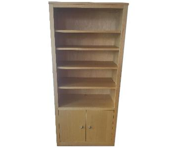 Room And Board Woodwind Bookcase w/ Doors