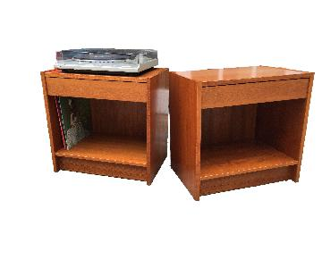 Mobler Furniture Danish Teak Nightstands/Record Cabinets