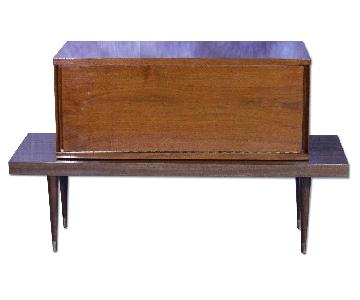 Mid Century Modern Walnut Bar Table/Sideboard