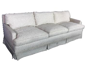 Down Filled Modern Raw Silk Sleeper Sofa