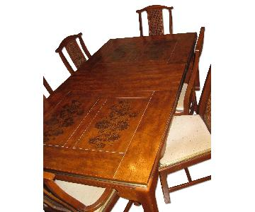 Bassett Solid Wood Ming Style Table w/ 6 Chairs