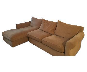 Macy's Two Piece Sleeper Sectional Sofa