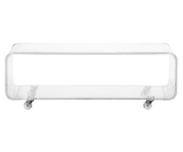 CB2 Acrylic Peekaboo Media Console/Coffee Table