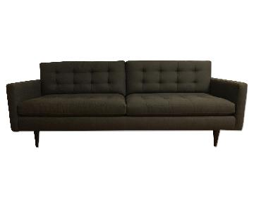 Crate & Barrel Petrie Mid-Century Sofa in Charcoal