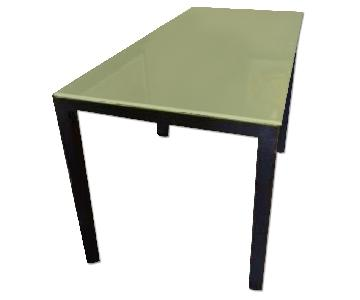 Room & Board Frosted Gass Top Dining Table