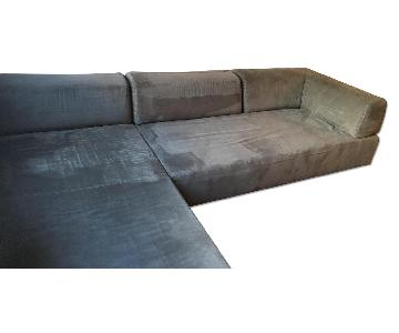 West Elm Tillary Microfiber Sectional Couch