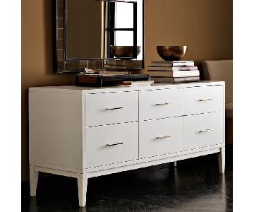 West Elm White Narrow-Leg 6-Drawer Dresser