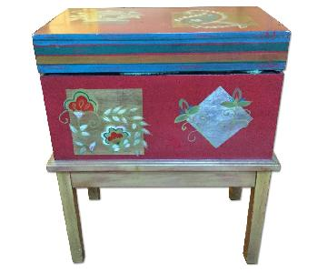 Red Painted Chest