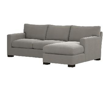 Crate & Barrel Axis Sectional in Charcoal Gray