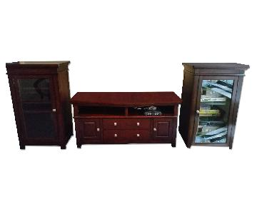 Raymour & Flanigan 3 Piece Entertainment Center
