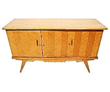 Mid Century Modern Blond Wood Credenza