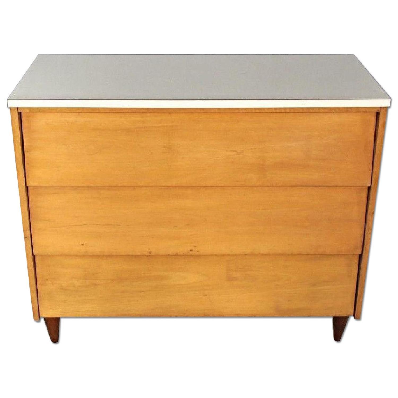 Mid Century Modern Blond Wood Chest Of Drawers Dresser