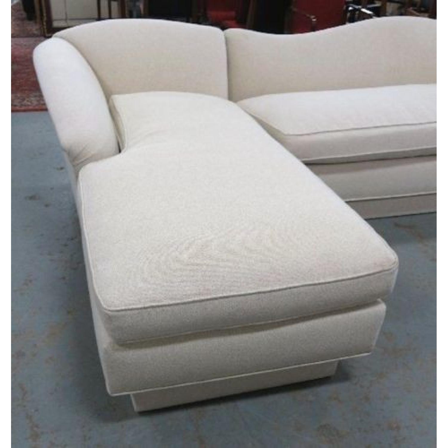 Ivory Cotton Sectional Couch-0
