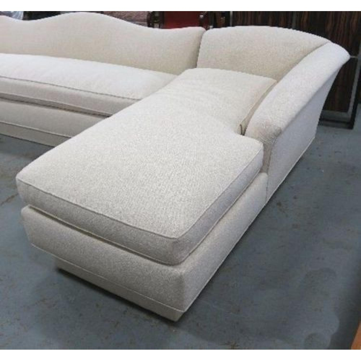 Ivory Cotton Sectional Couch-1